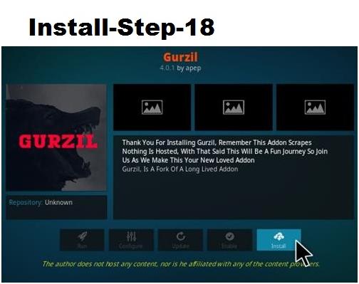Gurzil Kodi Add-ons
