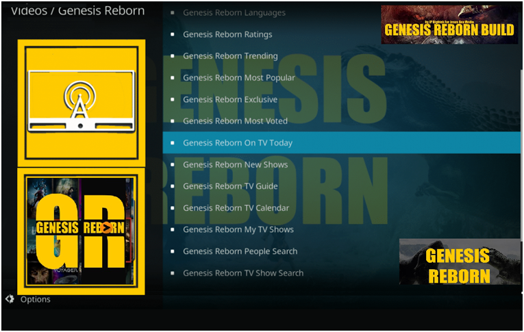 Genesis Reborn by Kodi Add-ons