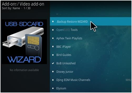 how to backup and storage Kodi