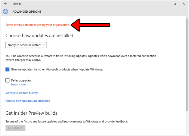 """How to Fix the """"Some Settings Are Managed By Your Organization"""" Bug in Windows 10"""